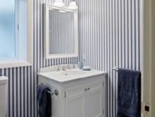 Banyo Çizgili Duvar Kağıdı | Kreş-Anaokul